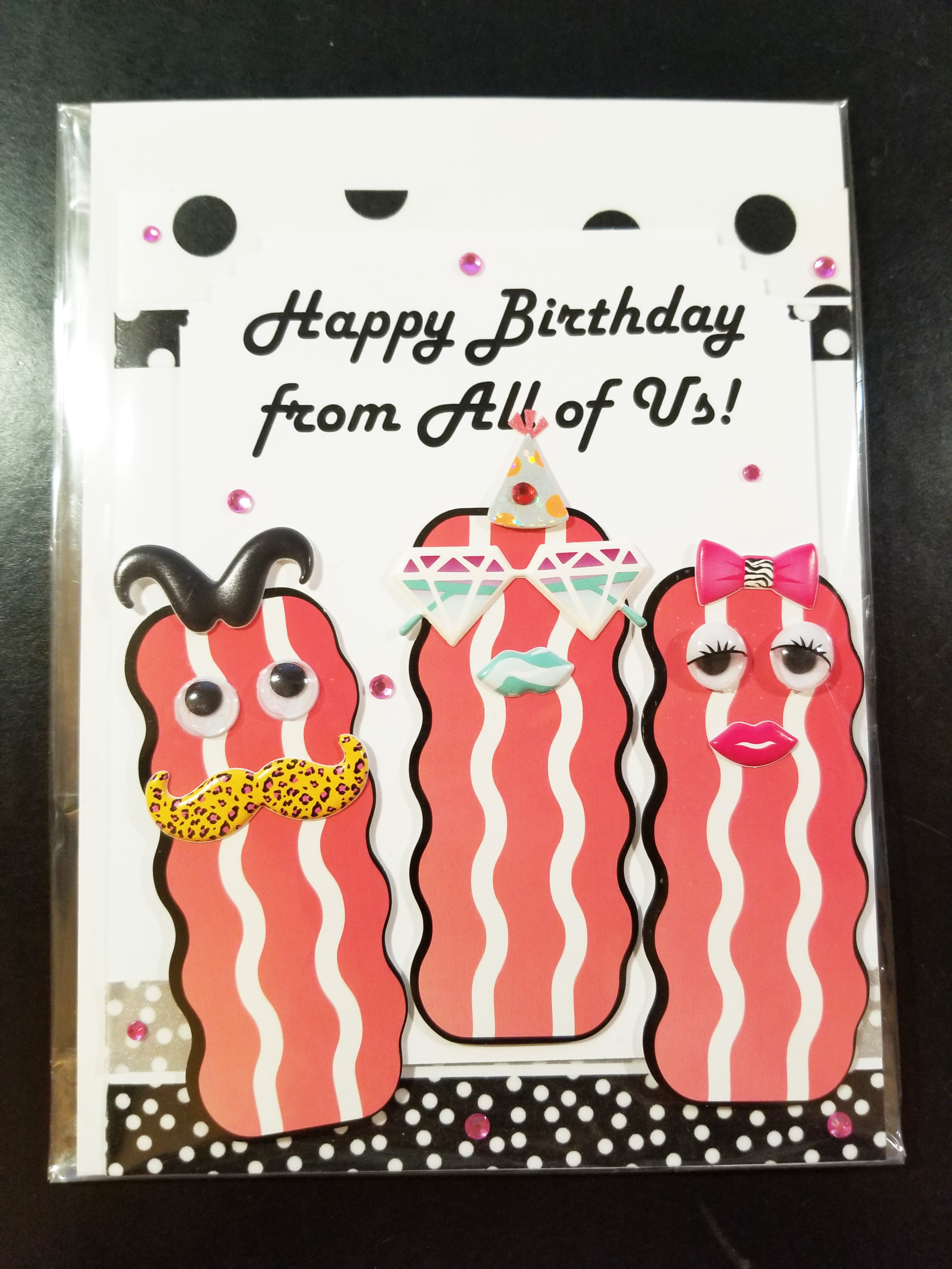 Stupendous Happy Birthday From All Of Us Bacon Friends Handmade Greeting Card Personalised Birthday Cards Paralily Jamesorg